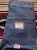 1940'S DEADSTOCK UNKNOWN VAT DYED BLUE HBT WORK PANTS/SIZE/10
