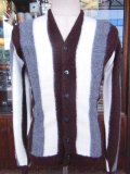 1950'S〜 CRANBLOOK STRIPED ACRYLIC CARDIGAN SIZE/M