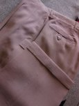 画像1: 1950'S UNKNOWN BEIGE FLECK RAYON ACETATE  SLACKS W33 X L30 (1)