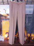 画像3: 1950'S UNKNOWN BEIGE FLECK RAYON ACETATE  SLACKS W33 X L30 (3)