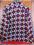 画像5: 1950'S A SHERMAN CREATION HARLEQUIN PRINT RAYON SHIRT SZ/SMALL