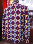 画像18: 1950'S A SHERMAN CREATION HARLEQUIN PRINT RAYON SHIRT SZ/SMALL