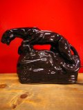 1950'S UNKNOWN BLACK PANTHER POTTERY TV LAMP