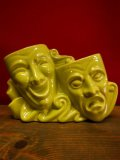 1950'S UNKNOWN COMEDY & TRAGEDY POTTERY TV LAMP