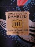 画像2: 1950'S HOLLYWWOD RAMBLER NAVY HAWAIIAN SHIRT L/S/SZ/SMALL (2)