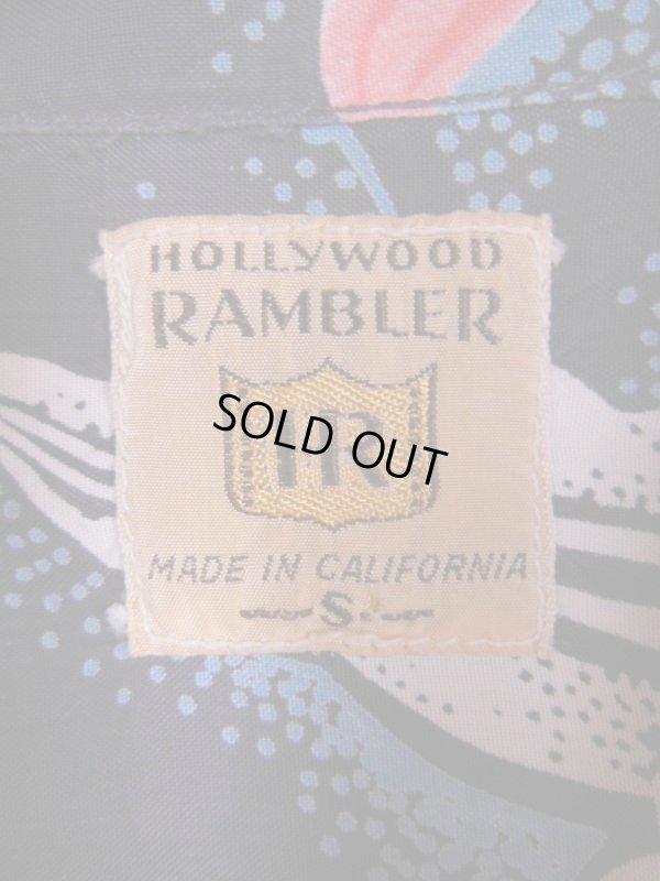 画像2: 1950'S HOLLYWWOD RAMBLER NAVY HAWAIIAN SHIRT L/S/SZ/SMALL