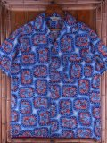 1950'S PENNEY'S TOWNCRAFT ABSTRACT PRINT HAWAIIAN SHIRT SZ/M