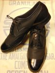 画像1: 1950'S THE FROSHEIM SHOE BLACK NYLON MESH TWO TONE SHOES 9-1/2D  (1)
