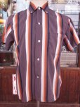 画像8: 1950'S CAMPUS BD STPIPE COTTON SHIRT SZ/S