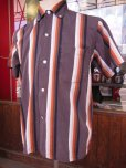 画像9: 1950'S CAMPUS BD STPIPE COTTON SHIRT SZ/S