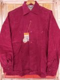 1950'S DEADSTOCK CAMERA CLASSICS by BROOKS LANE BURGUNDY CORDUROY SHIRT SZ/SMALL