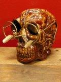 1950'S〜 SKULL W/GLASSES ASHTRAY ヴィンテージ陶器製スカル骸骨灰皿1