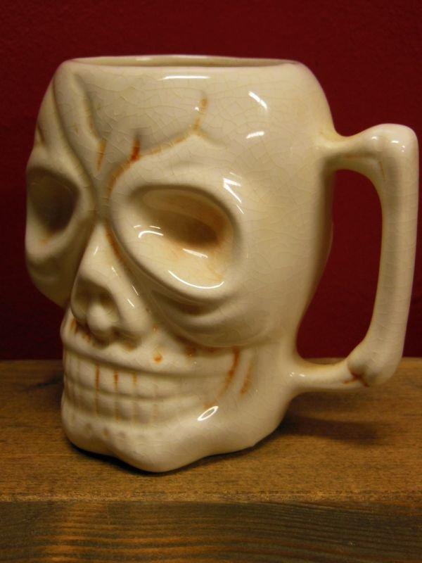 画像2: 1950'S〜 KAHIKI SKULL POTTERY TIKI MUG ヴィンテージ陶器製スカルマグ4