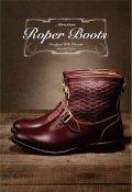 Attractions Lot.300 Roper Boots Emboss/Black/Burgandy ローパーブーツ