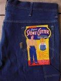 1960'S DEADSTOCK SUPER STONE CUTTER 10OZ DENIM PAINTER PANTS 42X29