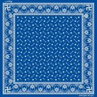 Dapper's Swastika Bandana LOT1194 BLUE