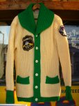 画像1: 1950'S 2TONE SHAWL COLLAR KNIT CARDIGAN (1)