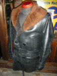 画像5: 1930'S UNKNOWN HORSEHIDE SHAWL COLLAR COAT (5)