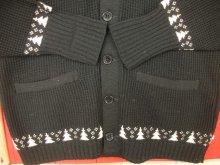 他の写真3: 1950'S PURITAN BLACK X PINK SNOWFLAKE BORDER KNIT CARDIGAN