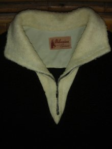 他の写真1: 1950'S PALOMINO BLACK X WHITE ZIP UP ACRYLIC PULLOVER