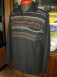 画像4: 1950'S McGREGOR BLACK WOOL BORDER SHIRT  SZ/S (4)