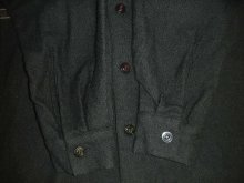 他の写真2: 1950'S McGREGOR BLACK WOOL BORDER SHIRT  SZ/S