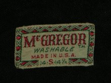 他の写真1: 1950'S McGREGOR BLACK WOOL BORDER SHIRT  SZ/S