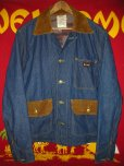 画像1: 1960'S BIGSMITH BLANKET LINED DENIM WORK JACKET SZ/42 (1)