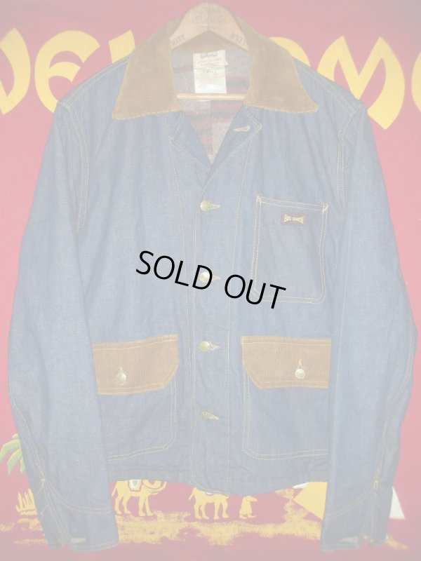 画像1: 1960'S BIGSMITH BLANKET LINED DENIM WORK JACKET SZ/42