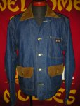 画像4: 1960'S BIGSMITH BLANKET LINED DENIM WORK JACKET SZ/42 (4)