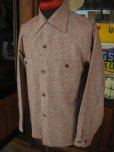 画像2: 1950'S DEADSTOCK E&W FLECK TWEED WOOL SHIRT SZ/SMALL (2)