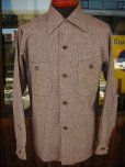 画像1: 1950'S DEADSTOCK E&W FLECK TWEED WOOL SHIRT SZ/SMALL (1)