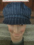 画像3: NEW YORK HAT/#6273/LINEN STRIPE SPITFIRE/NAVY (3)
