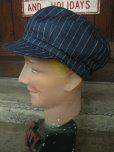画像5: NEW YORK HAT/#6273/LINEN STRIPE SPITFIRE/NAVY (5)