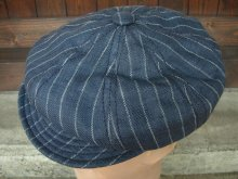 他の写真1: NEW YORK HAT/#6273/LINEN STRIPE SPITFIRE/NAVY