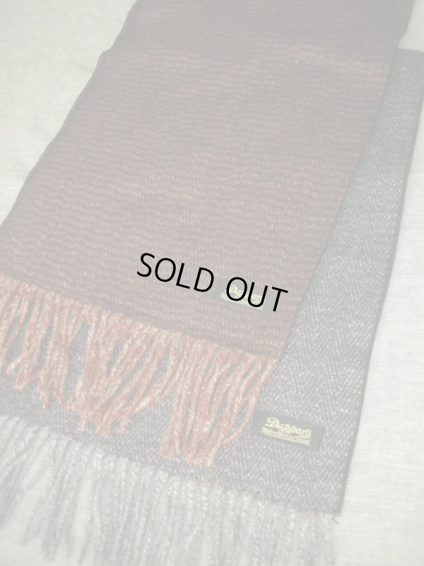 画像3: DAPPER'S HERRINGBONE CASHMINK SCARF LOT926/