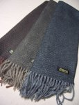 画像2: DAPPER'S HERRINGBONE CASHMINK SCARF LOT926/   (2)