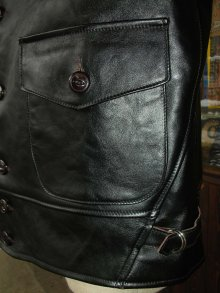 他の写真3: HIMEL BROTHERS LEATHER HERON 1929/BLACK HORSEHIDE/BUTTON FRONT