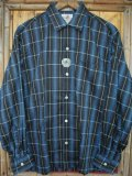 1950'S DEADSTOCK PARK LANE SHADOW PLAID COTTON SHIRT SZ/MEDIUM