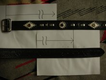 "他の写真3: RAWHIDE STUDDED & JEWELED BELT LOT-133/ 1-3/4""[44MM]"