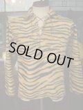 1950'S CAMPUS KODIAK TIGER FAKE FUR LACE UP PULLOVER SZ/YOUTH20