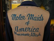 他の写真3: 1940'S〜 MOTOR MAIDS MC CLUB HARF ZIP TWO TONE WOOL JERSEY/38