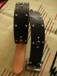 "画像3: RAWHIDE STUDDED & JEWELED BELT LOT-104/ 1-3/4""[44MM]"