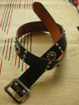 "画像1: RAWHIDE STUDDED & JEWELED BELT LOT-103A/ 1-3/4""[44MM]  (1)"