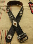 "画像2: RAWHIDE STUDDED & JEWELED BELT LOT-118/ 1-3/4""[44MM]  (2)"