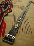 "画像3: RAWHIDE STUDDED & JEWELED BELT LOT-118/ 1-3/4""[44MM]"