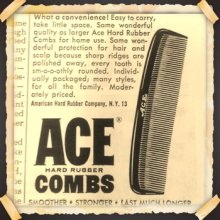 "他の写真2: 1980'S DEADSTOCK 7"" HARD RUBBER ACE COMB"