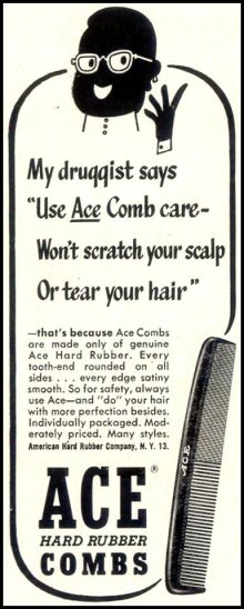 "他の写真1: 1980'S DEADSTOCK 7"" HARD RUBBER ACE COMB"