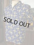 1950'S DEADSTOCK WHEATLEY PRINTED RAYON SPORTS SHIRT SZ/M