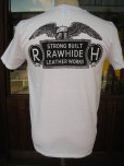画像2: RAWHIDE BILT-WELL TEE/F,B/P/GILDAN BODY/WHITE/BLACK (2)